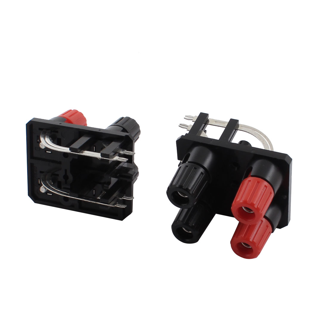 2 Pcs 2 Row Red Black 4 Pin 4 Position Screw Speaker Terminals