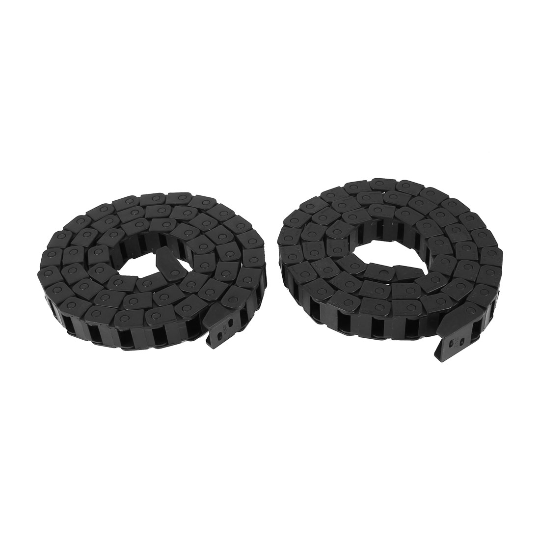 2 Pcs Black Plastic Drag Chain Cable Carrier 10 x 15mm for CNC Router Mill