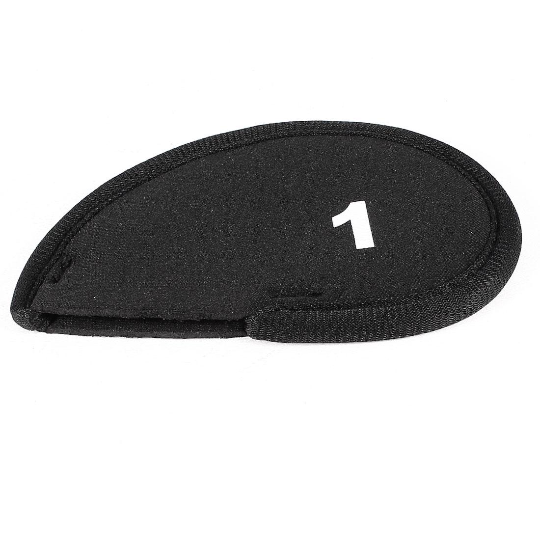 Black Neoprene Golf Club Head Cover 1 2 Wedge Iron Protective Headcovers