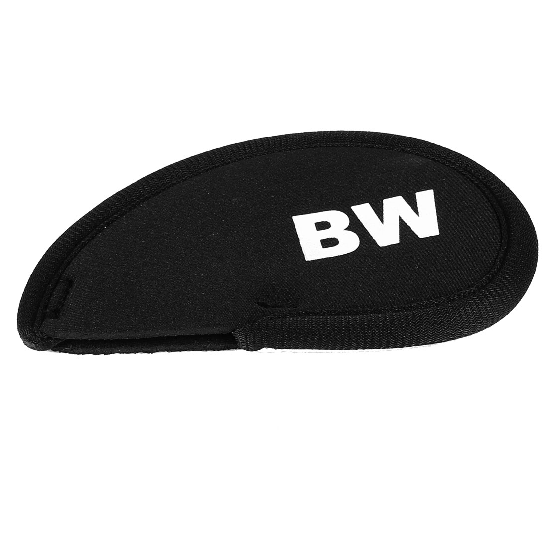 Black Neoprene Golf Club Head Cover BW GW Wedge Iron Protective Headcovers