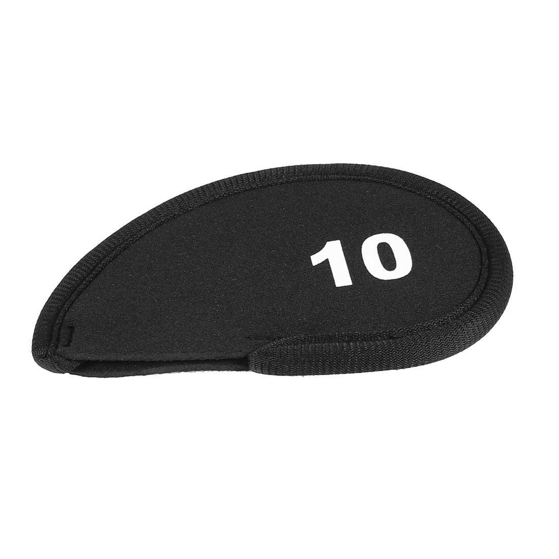 Black Neoprene Golf Club Head Cover 10 Wedge Iron Protective Headcovers