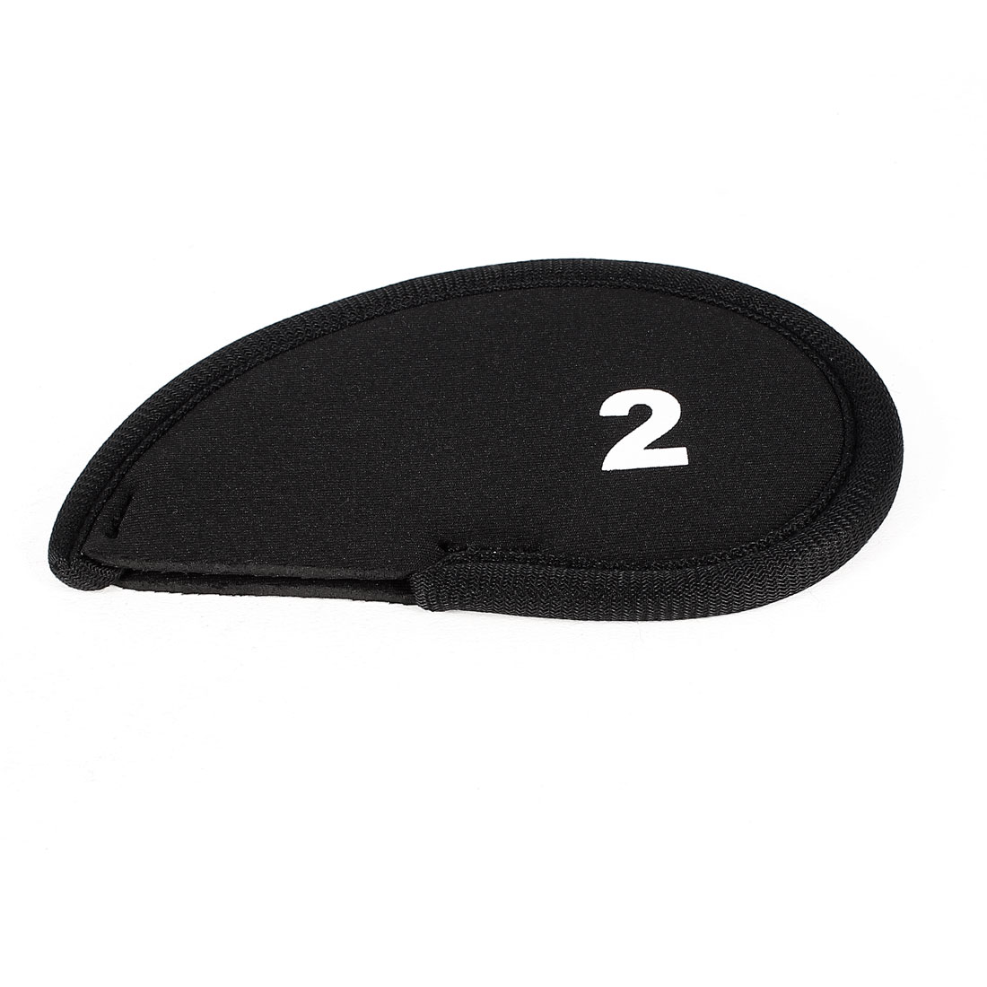 Black Neoprene Golf Club Head Cover 2 Wedge Iron Protective Headcovers