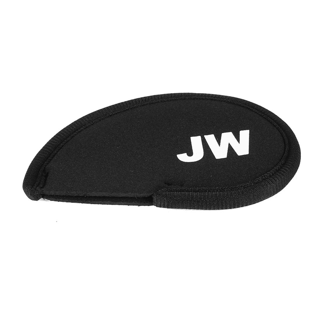 Black Neoprene Golf Club Head Cover JW Wedge Iron Protective Headcovers
