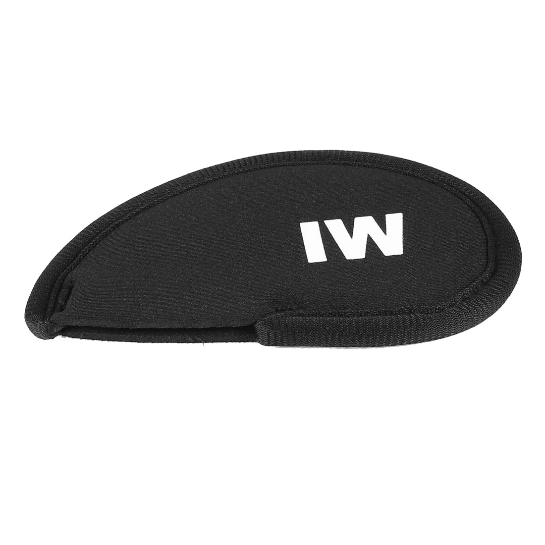 Black Neoprene Golf Club Head Cover IW Wedge Iron Protective Headcovers
