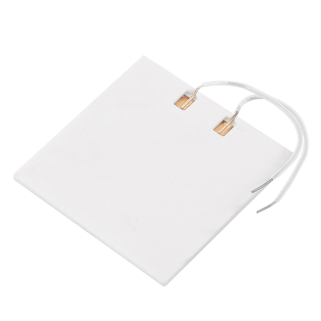 AC 12V 6W Mini Ceramic Heater Plate Heating Element White 40mm x 40mm
