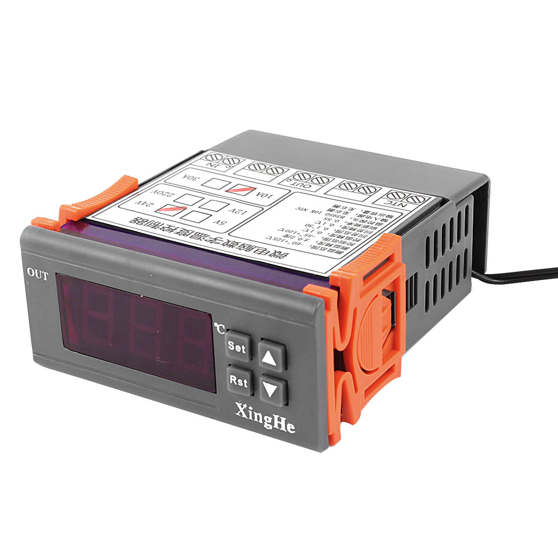 AC 24V 10A -55C to +120C Temperature Controller Gray Orange w Thermocouple
