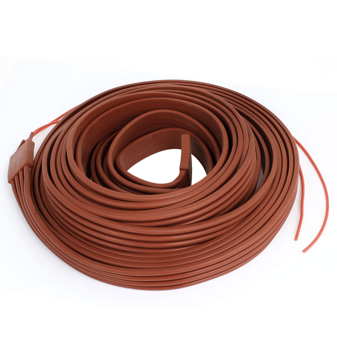 Red Flexible Silicone Waterproof Heater Strip Band 25mm Wide 10M Long 48V