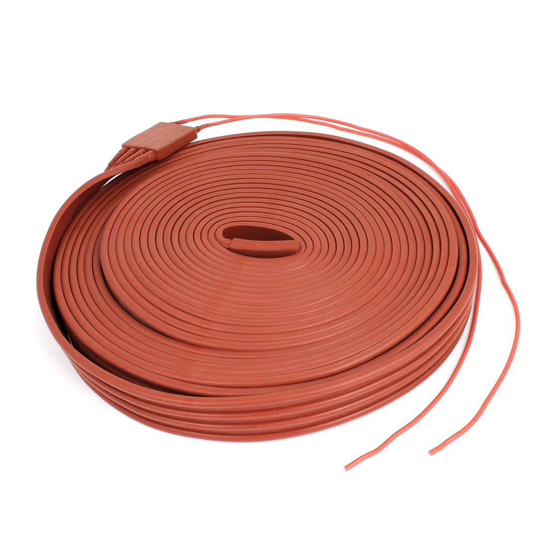 Red Flexible Silicone Waterproof Heater Strip Band 30mm Width 10M Long 60V