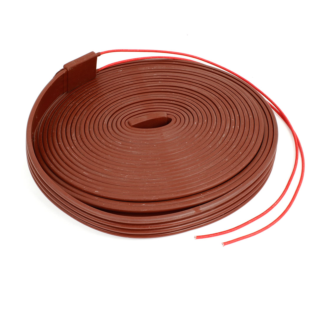 AC 220V Red Freezing Protection Silicone Waterproof Heater Strip 10M x 30mm