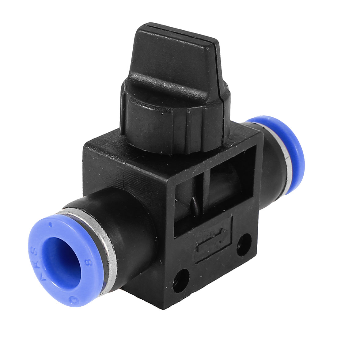 Air Pneumatic Quick Fitting 8mm to 8mm Push In Speed Controller Valve Black Blue