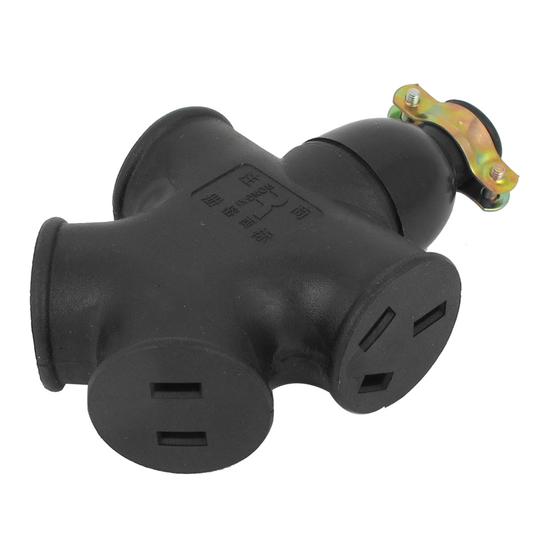 AC 125V 250V 15A AU US Four Power Outlet Waterproof Industrial Connector Socket
