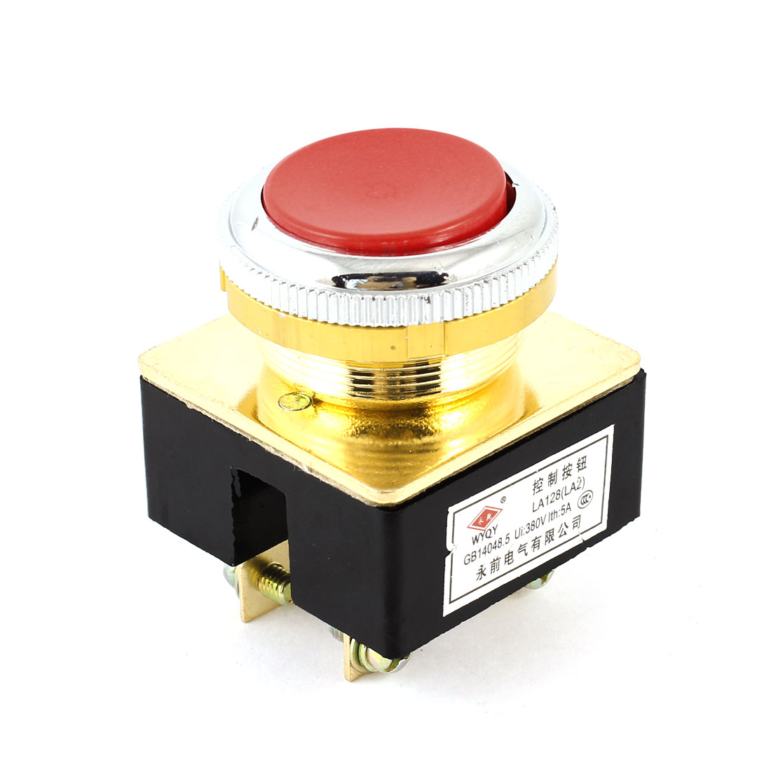 25mm Red Head DPST Momentry Emergency Stop Push Button Switch AC380V 5A