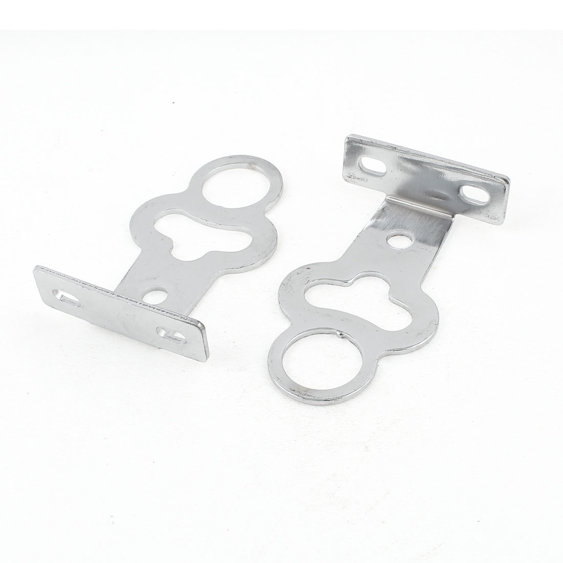 Bike Bicycle Sivler Tone Metal Brake Pedal Covers 2 PCS