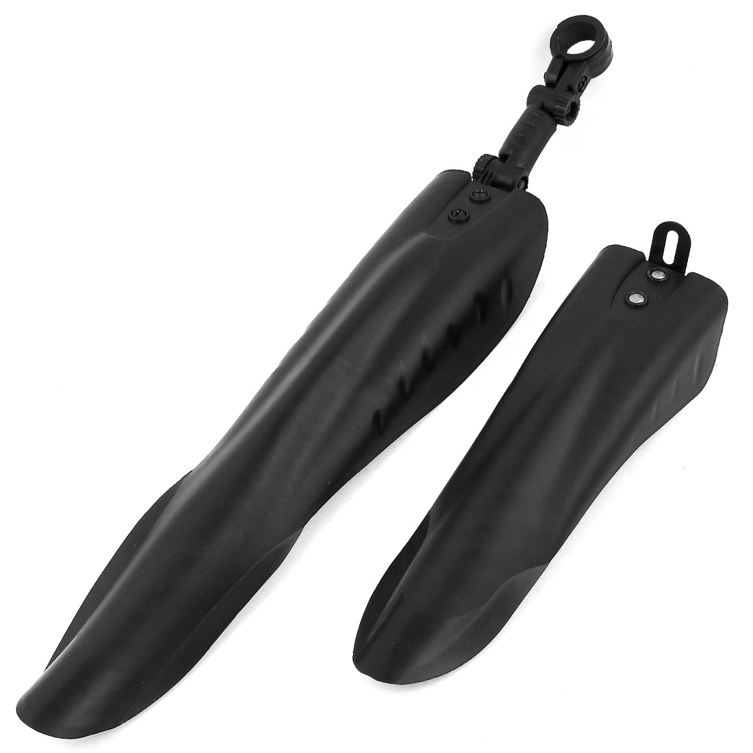 2pcs Black Plastic Mountain Bike Bicycle Rear Front Mud Guard Mudguard Fenders