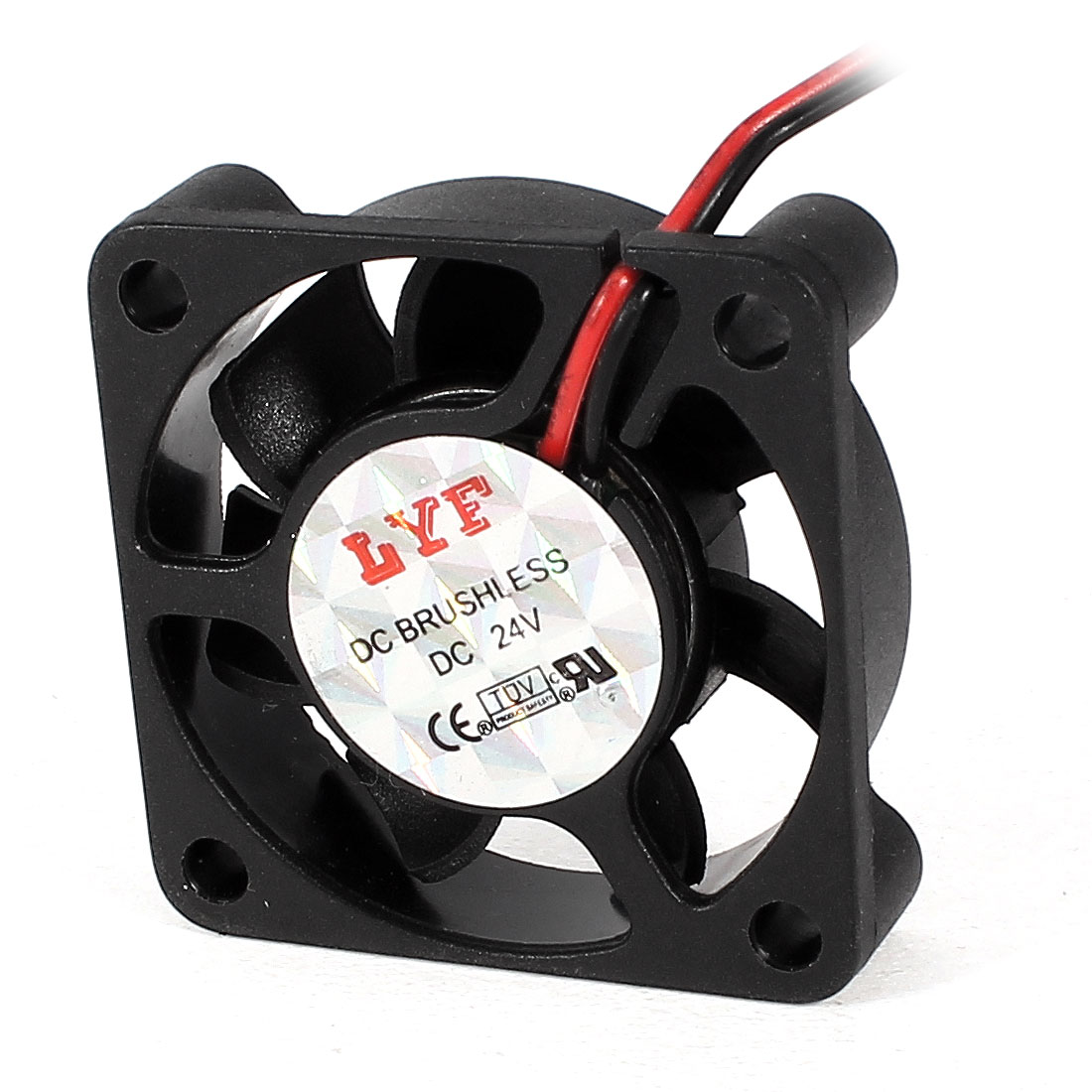 DC 24V 40mm x 10mm 2 Terminals Connector CPU Cooling Fan Cooler Black