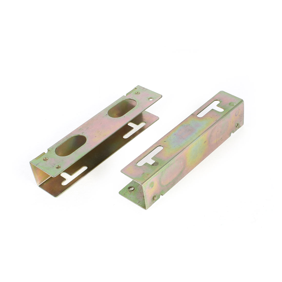 "2 Pcs Metal 5.25"" SSD HDD to 3.5"" Mounting Adapter Bracket Hard Drive Holder"