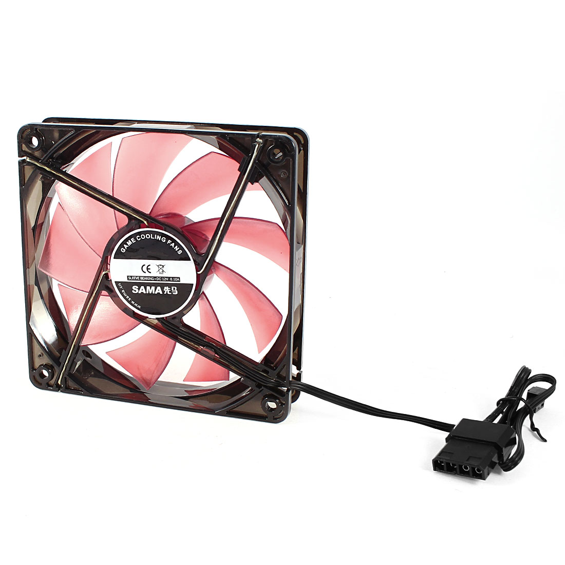 DC 12V 0.10A 120mm 3 Terminals 9 Flabellums Cooling Fan for PC Cases CPU Cooler Radiator