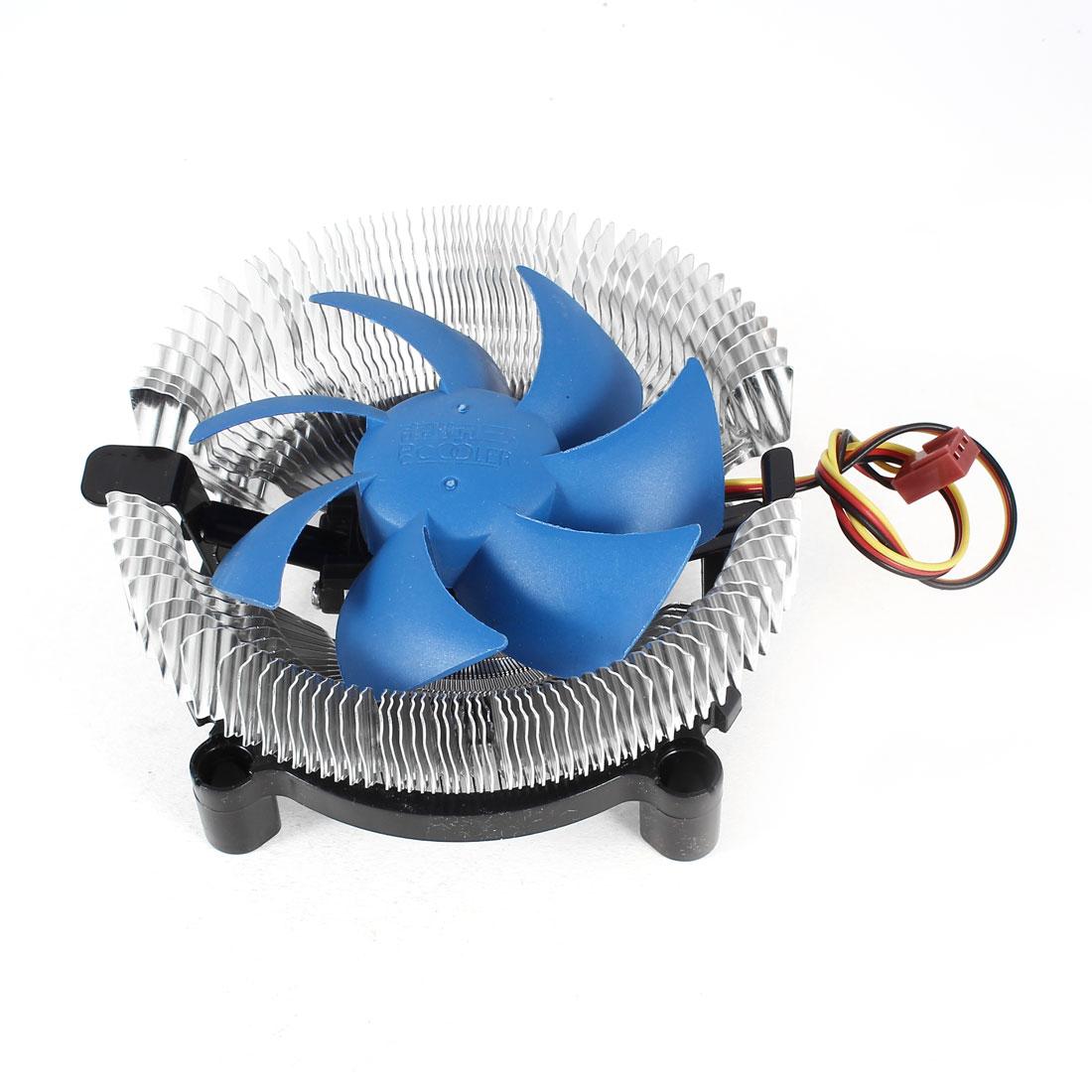 Silver Tone PC CPU Cooling Fan Cooler Heatsink 3 Terminals for Intel LGA775 LGA 1156