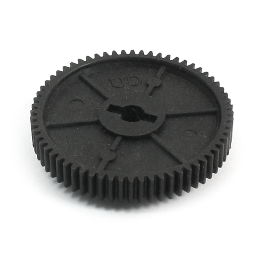 64T 5mm Hole Dia Black Plastic Spur Gear 11164 for 94111 RC 1/10 Car