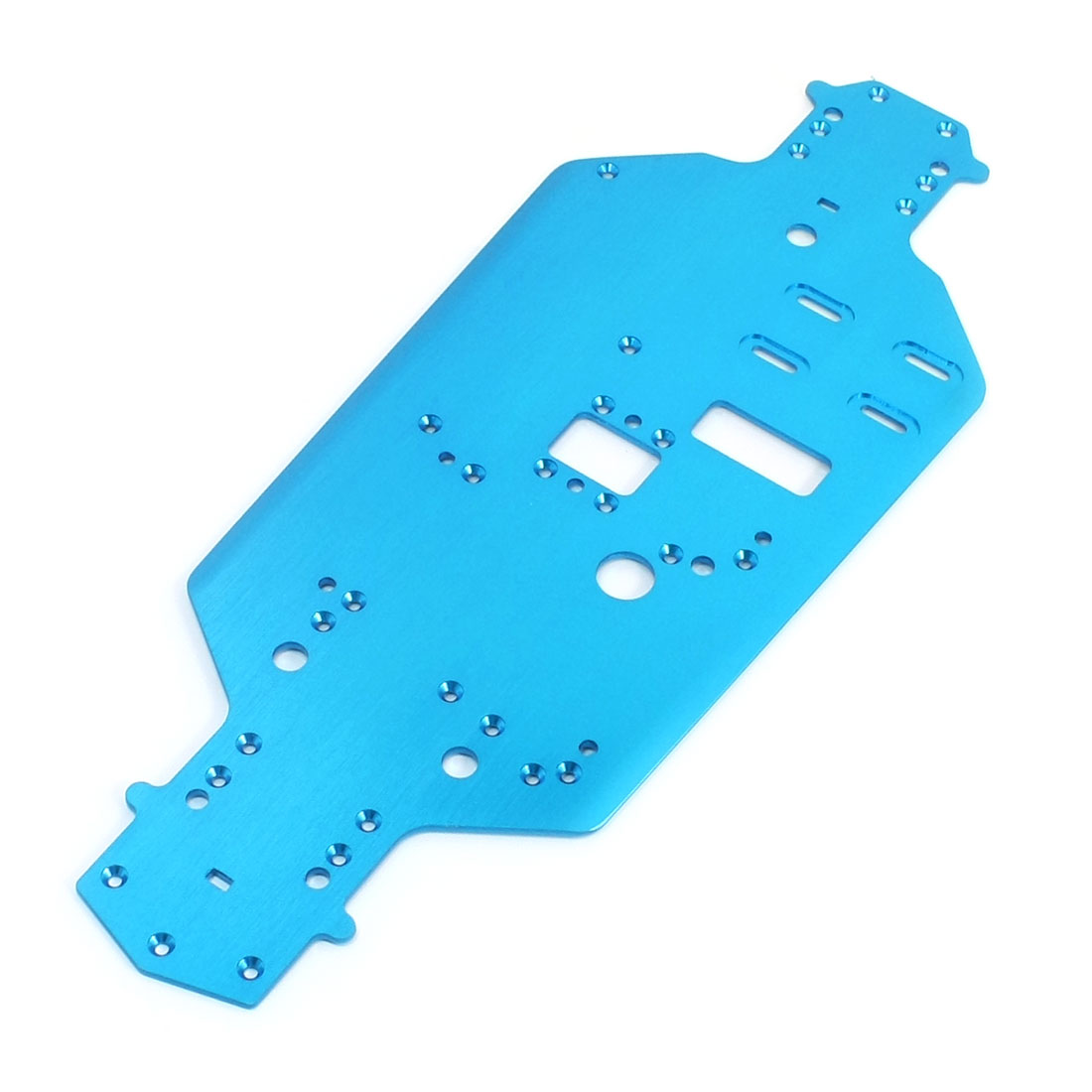 1/10 RC Model Car Spare Parts Racing Blue Aluminum Chassis 02163