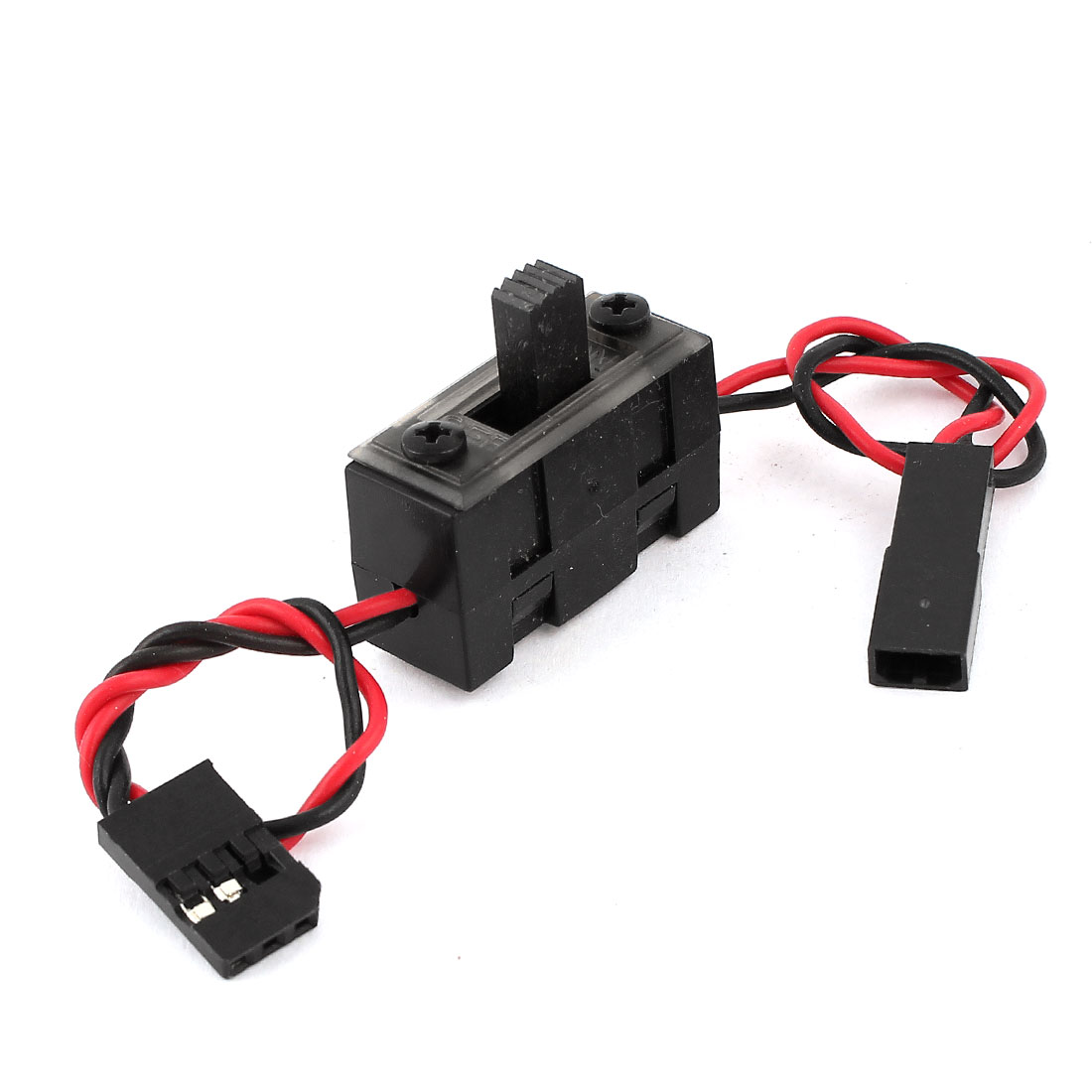 JR Connector ON/OFF Position Black Receiver Switch for RC 1/10 Model Car