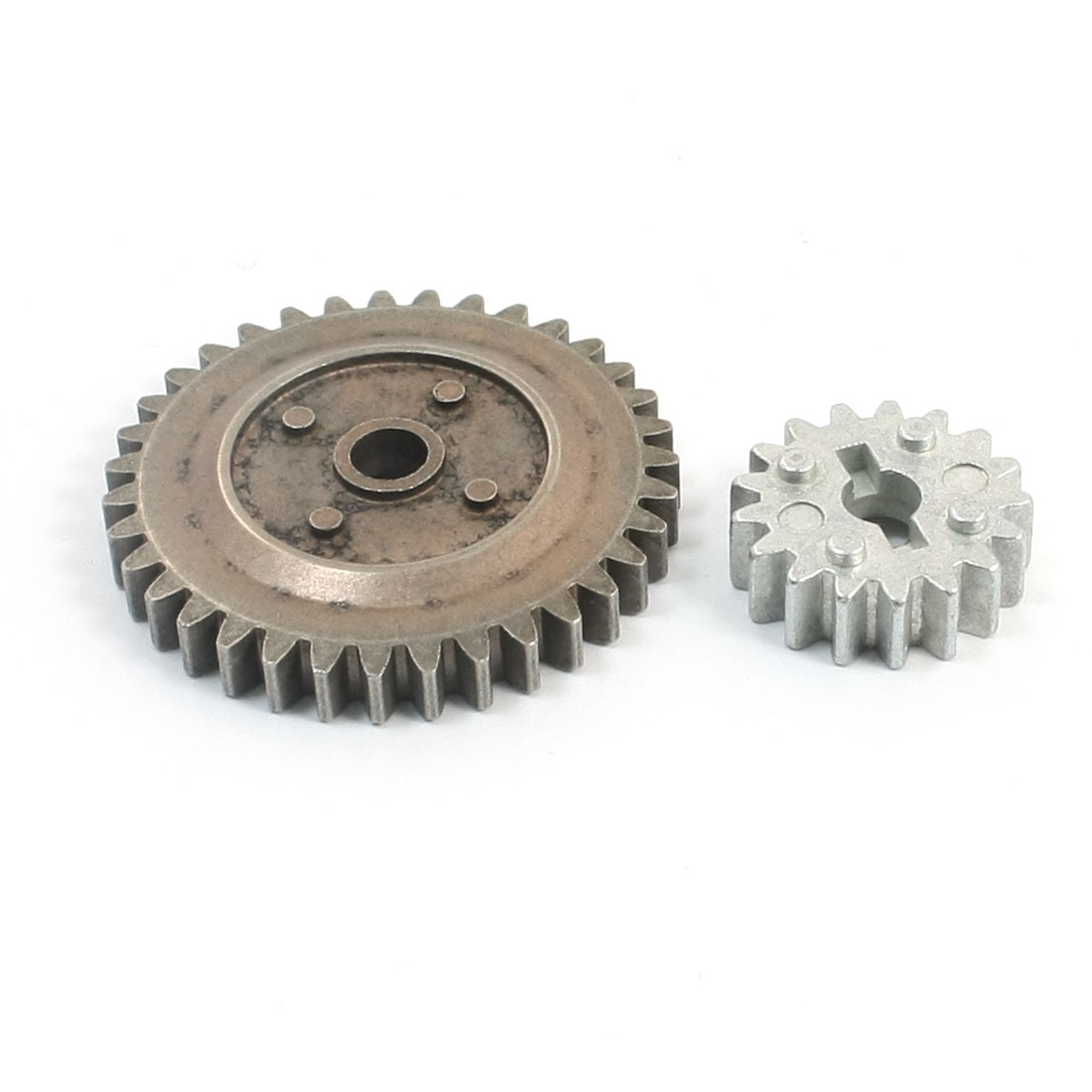 2pcs 08033 37mm 19mm Dia Steel Metal Spur Gear 35T 17T for 1/10 RC Car