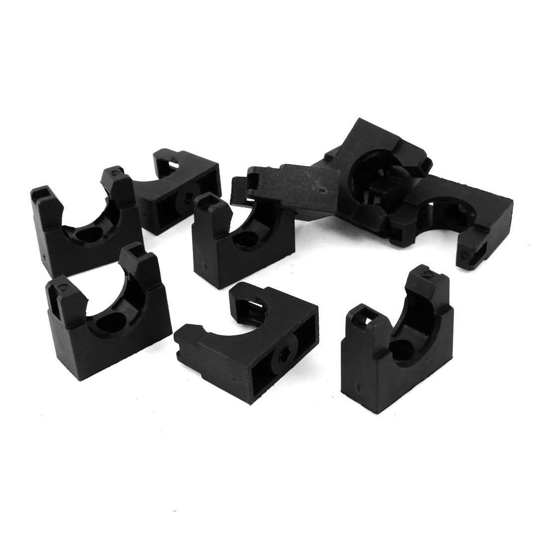 10pcs 20mm Corrugated Tubing Black Plastic Fixed Mount Bracket