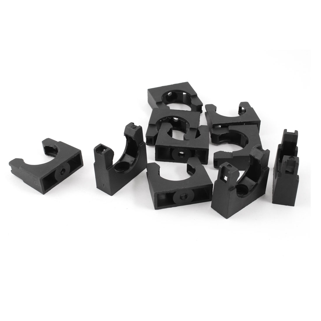 10 Pieces Plastic Mounting Bracket Black for 25mm Corrugated Tubing