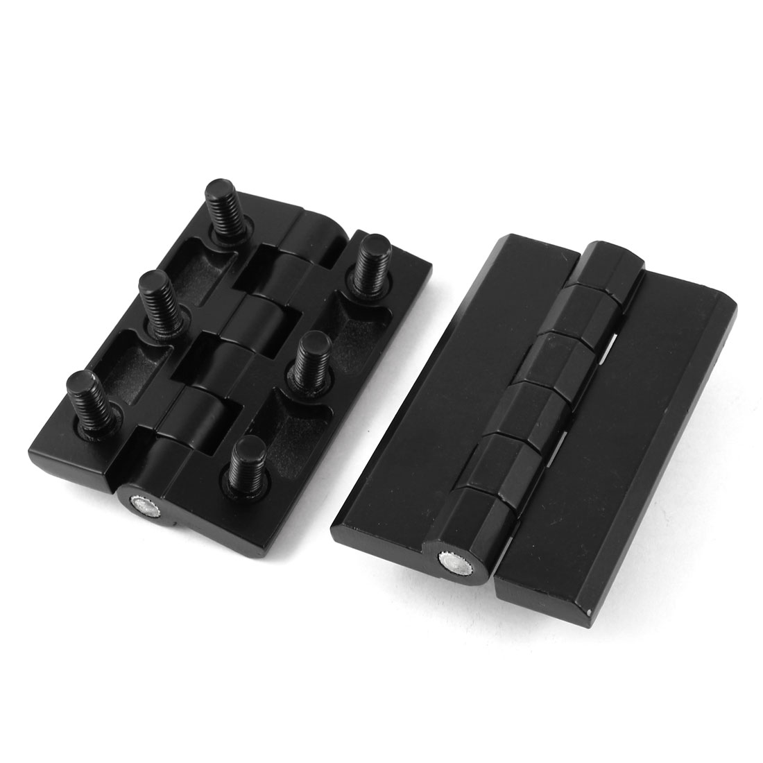 2pcs Hardware Black Metal Closet Cupboard Door Butt Hinge 90mmx60mmx25mm