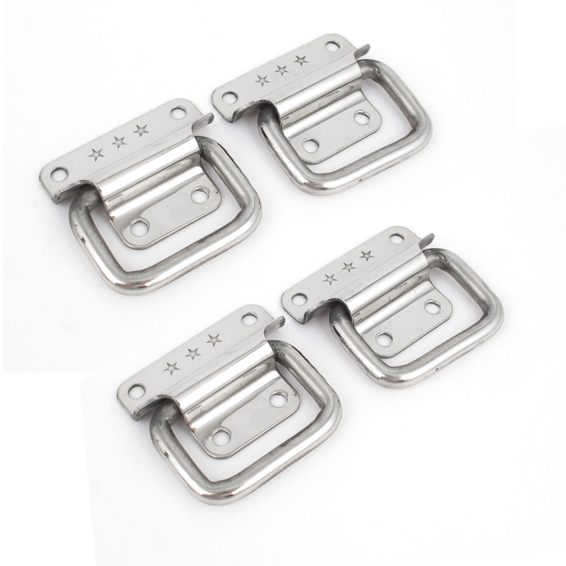 "4pcs Hardware Toolbox 2"" Puller Silver Tone Metal Chests Handle"