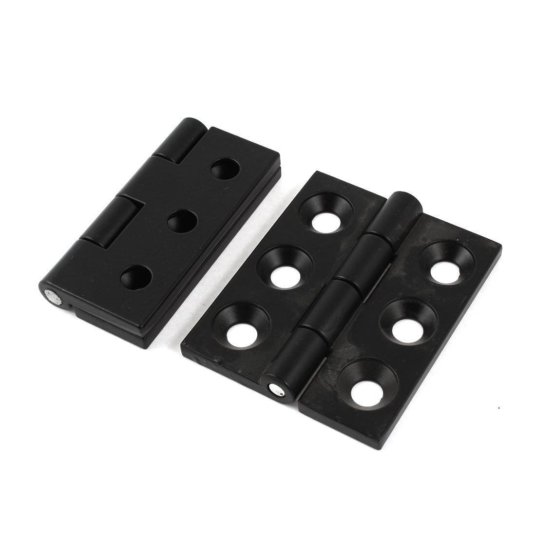 2Pcs Metal Home Furniture Hardware Door Drawer Hinge Black 80mm Long