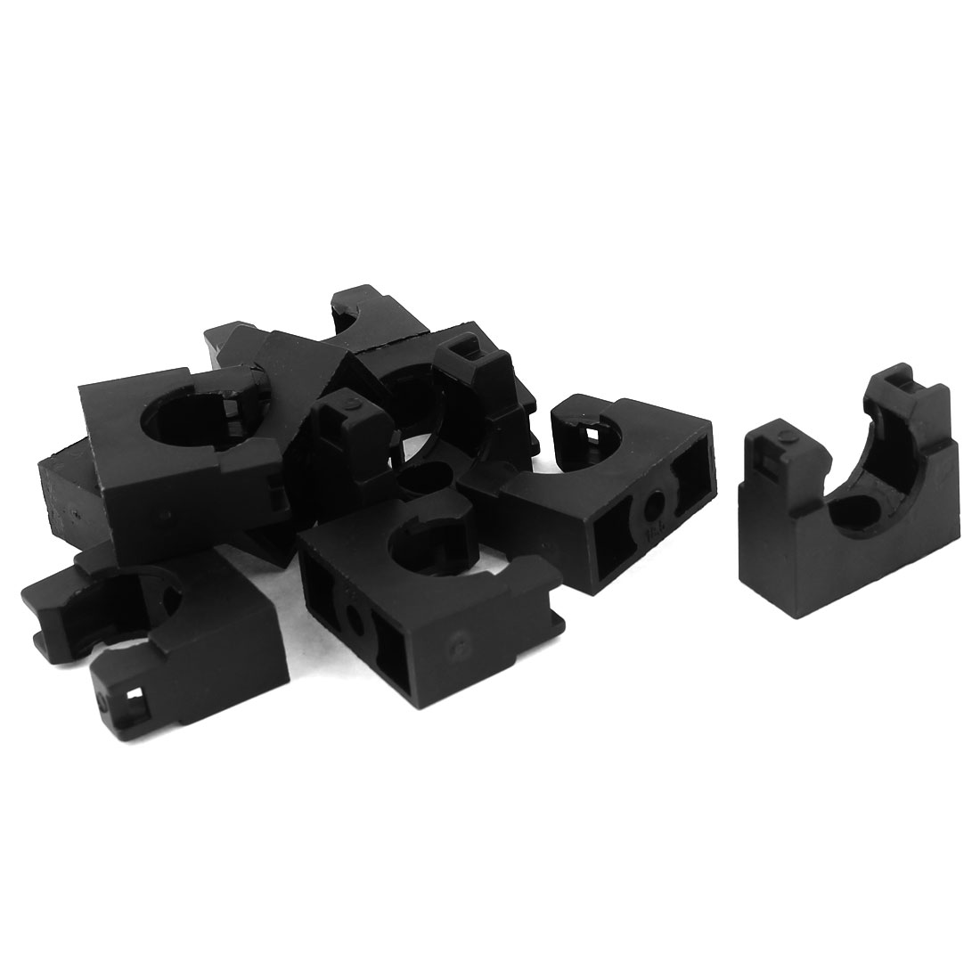 10pcs AD18.5 18.5mm Corrugated Tubing Black Plastic Fixed Mount Bracket