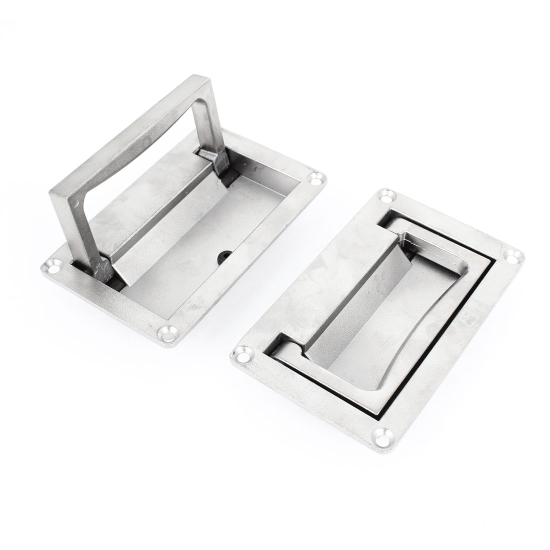 Hardware Parts 11cm Length Cupboard Cabinet Pull Handle Silver Tone 2pcs