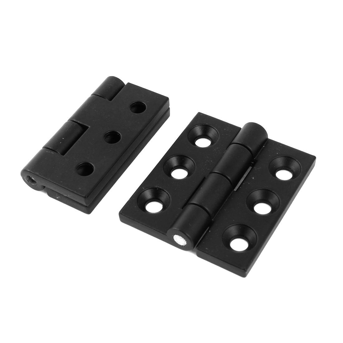 2pcs 65mm Long Black Cabinet Closet Door Butt Hinge Replacement