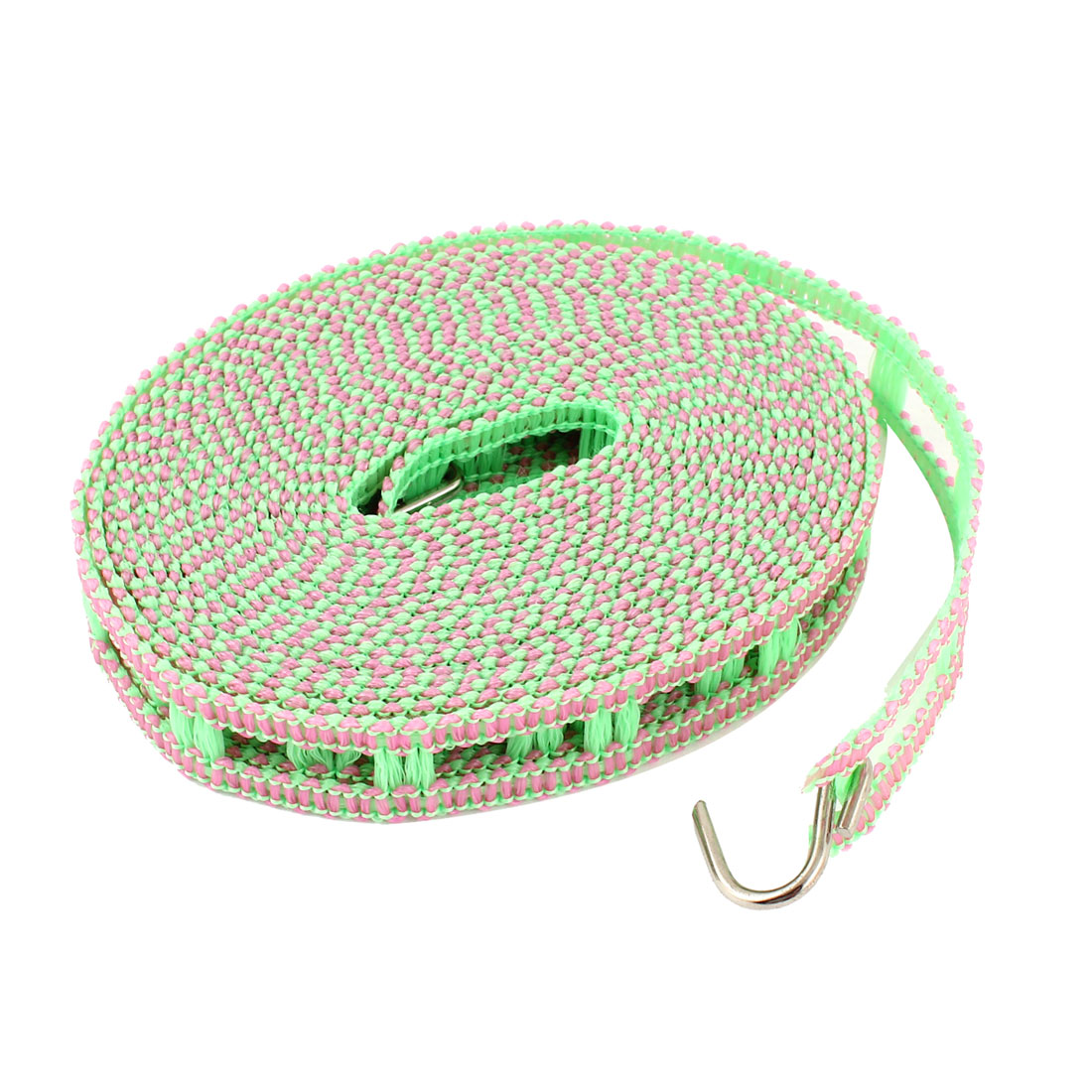 Green Pink Nylon 5M Wind Resistant Fence Design Indoor Outdoor Rope Clothesline