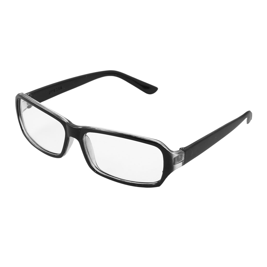 Lady Black Plastic Full Rimless Single Bridge Plain Eyewear Eyeglasses