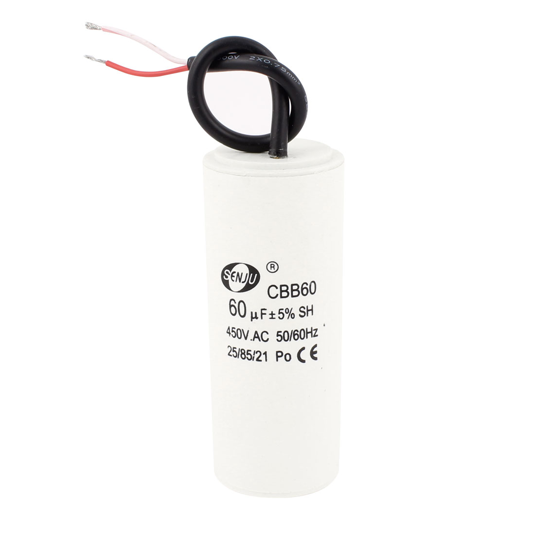 CBB60 50/60Hz Polypropylene Film Motor Running Capacitor AC 450V 60uF 5%