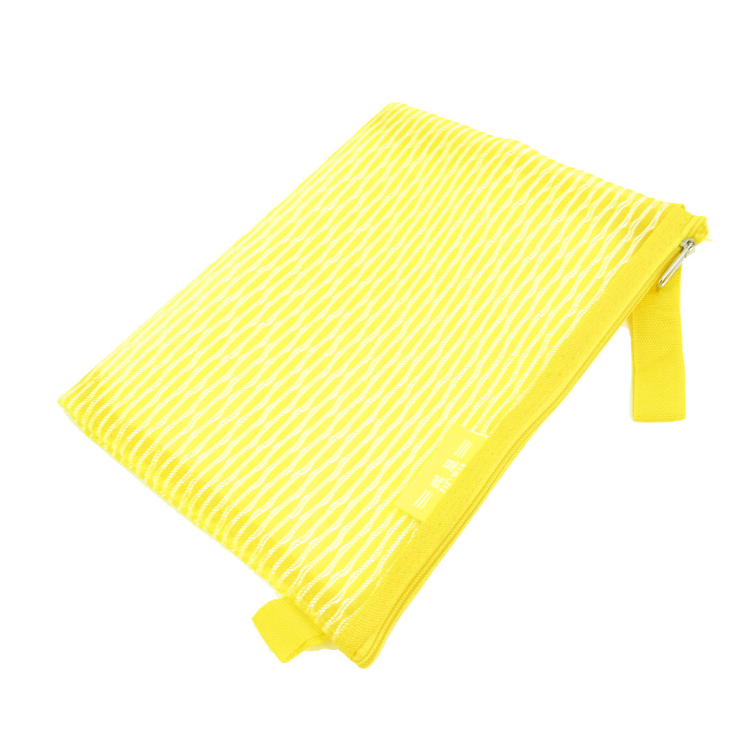 Zip Up Gridding A5 Paper Pen Pencil File Case Bag Holder Yellow