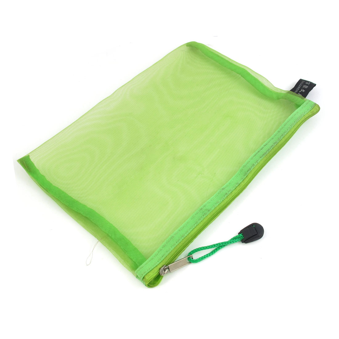 Zip Up Nylon Mesh A5 Paper Document File Pen Bag Holder Organizer Green