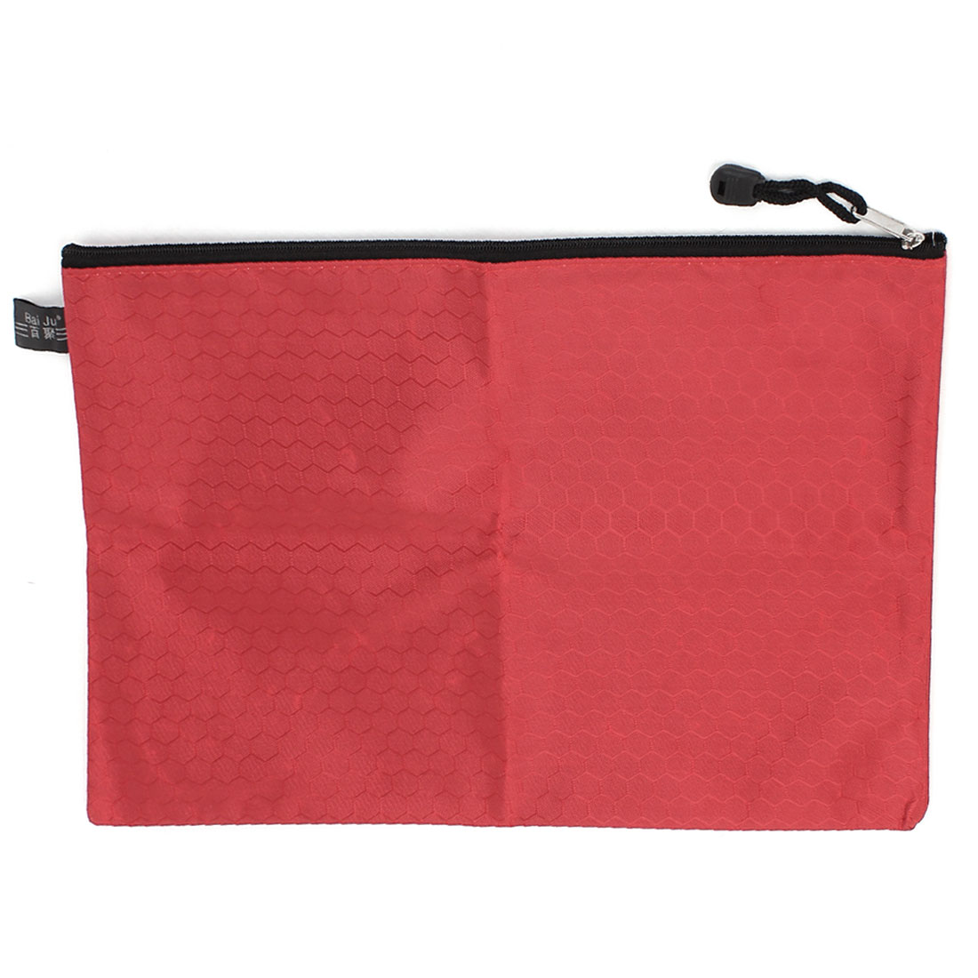 School Stationery A4 Storage Zipper Closure File Folder Office Documents Bag Red