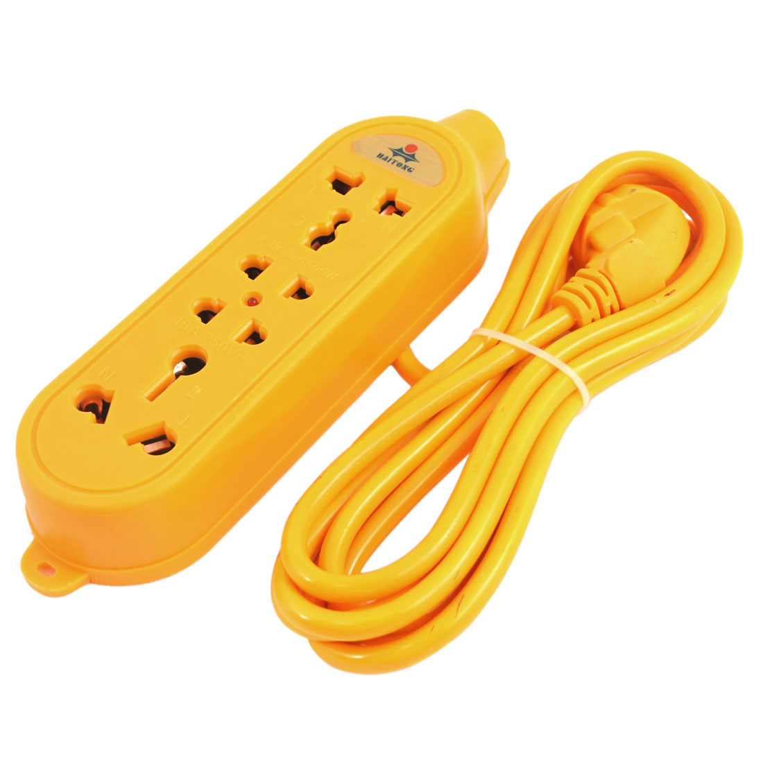 AC 250V 16A 5000W 3 Meter Cable 4 Outlet Power Strip Bar Adapter AU Plug