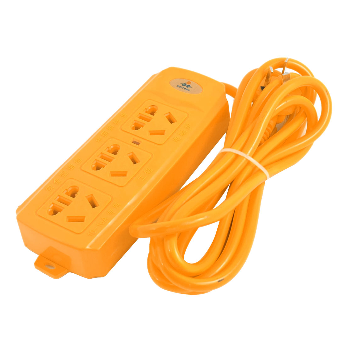 AU Plug 5000W AC 250V Orange Socket Outlet Electric Power Strip Adapter 3 Meter