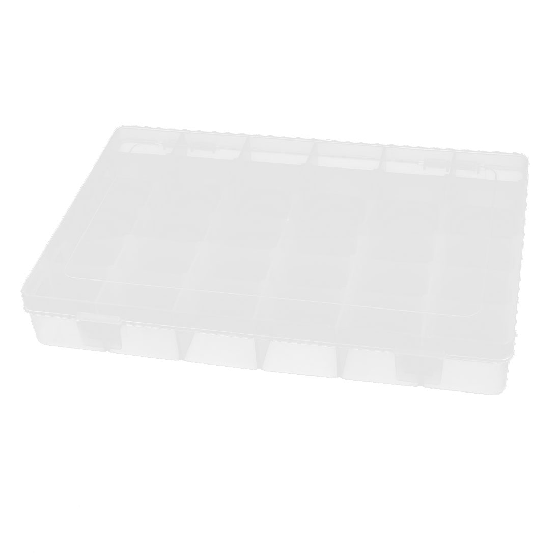 Clear Plastic 36 Detachable Compartments Electronic Component Storage Case Box