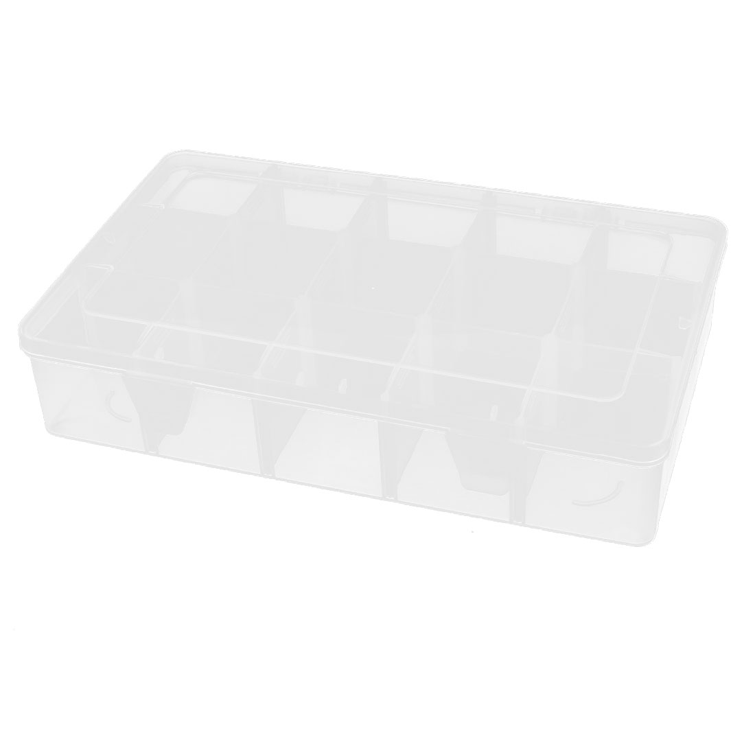 Plastic 15 Compartments Electronic Components Storage Box Case Container