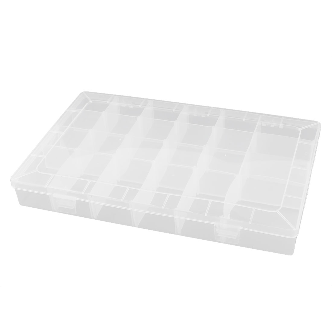 Plastic 24 Compartments Electronic Component Storage Case Box Container Clear