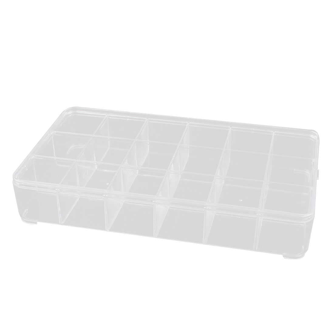 Clear PS Rectangle 18 Compartments Electronic Components Case Organizer