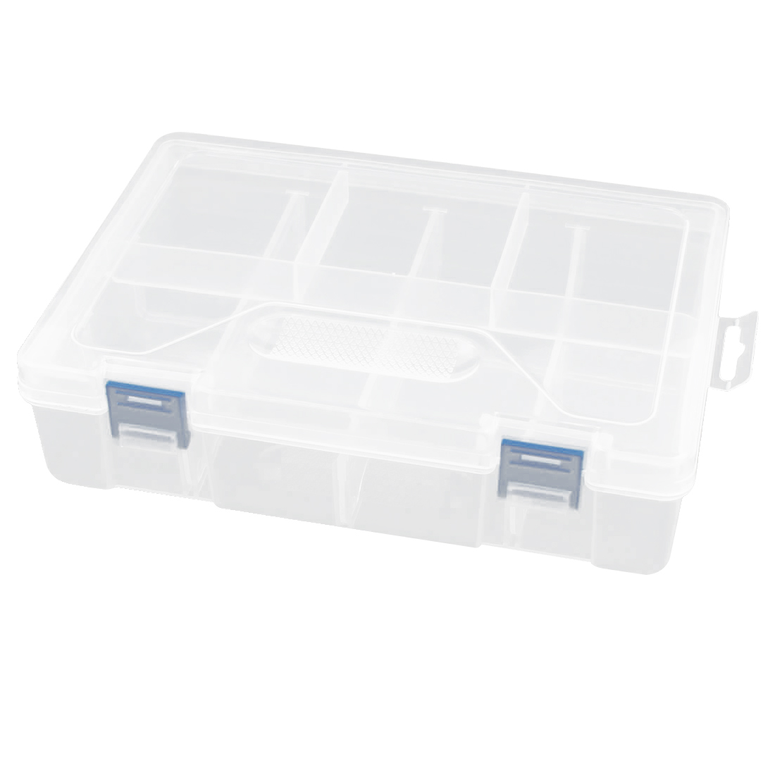 Clear Plastic 2 Layers 8 Compartments Electronic Components Case Holder