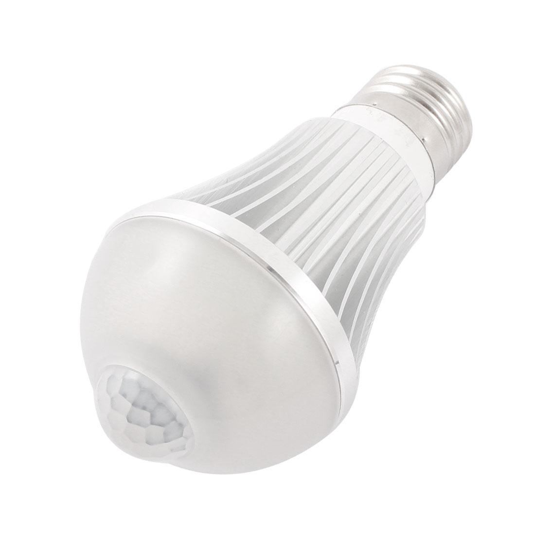 AC90-260V Input 6W 600lm 3-4M E26 White LED PIR Motion Sensor Light