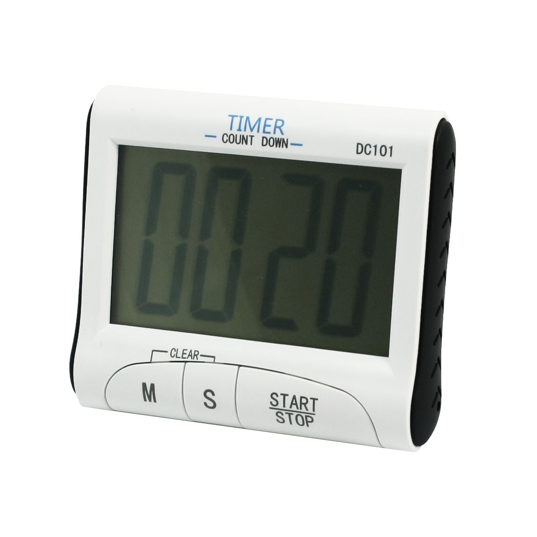 White Kitchen Battery Powered LCD Digital Count Down Up Timer Clock Alarm
