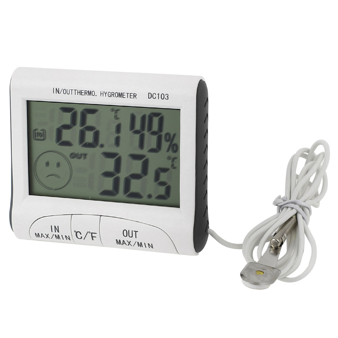 DC103 Battery Power Indoor Outdoor LCD Digital Thermometer Hygrometer